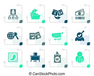Stylized Business, Management and office icons