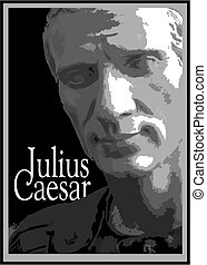 julius caesar - stylized bust of julius caesar, the most...