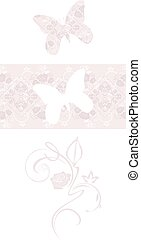 Stylized butterfly and border