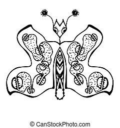 Stylized butterfly
