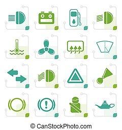 Stylized Car Dashboard icons