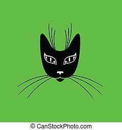 Stylized cat muzzle