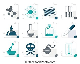 Stylized Chemistry industry icons