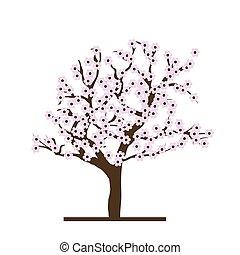 Stylized cherry tree