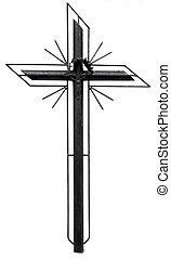 stylized, christen, kruis