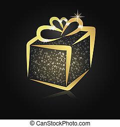 Stylized christmas gift box