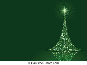 Stylized Christmas tree background