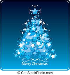 Stylized Christmas tree, card