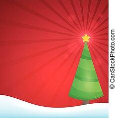 Stylized Christmas tree topic image 2