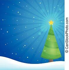 Stylized Christmas tree topic image 3