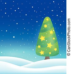 Stylized Christmas tree topic image 4