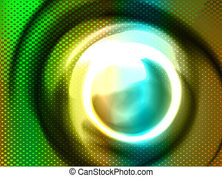 stylized circles, vector