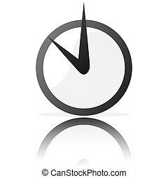 Stylized clock - Glossy illustration of a stylized clock,...