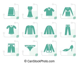 Stylized Clothing Icons