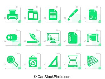 Stylized Commercial print icons