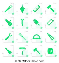 Stylized Construction and Building Tools icons