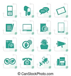 Stylized Contact and communication icons
