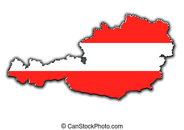 Stylized contour map of Austria - Outline map of Austria...