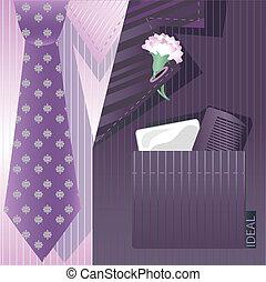 stylized, cravat, fundo