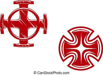 Stylized crosses