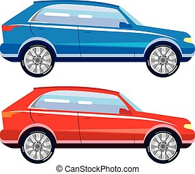 Stylized Crossover SUV vector art
