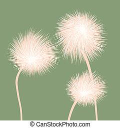 Stylized dandelions