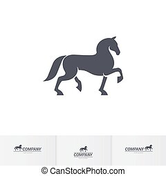 Horse - Stylized Dark Horse for Mascot Logo Template on...