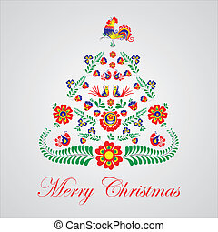 Stylized design Christmas tree with Czech and moravien...