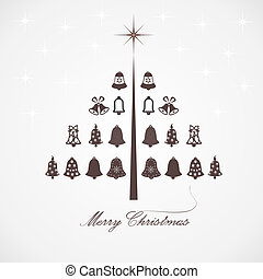 Stylized design Christmas tree with