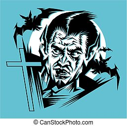 dracula - stylized drawing of dracula, prince of darkness...