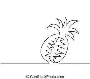 Stylized drawing of pineapple