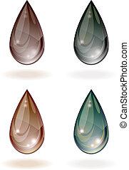 Stylized drop of oil.
