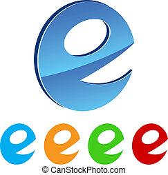 stylized E. - Collection of stylized E. Vector illustration.