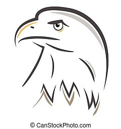 Stylized Eagle head design - Stylized bald Eagle or Hawk...