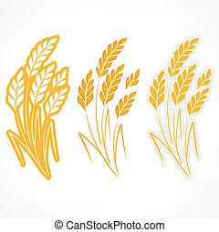Stylized ears of wheat