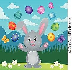 Stylized Easter bunny theme