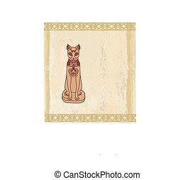 Stylized Egyptian cat