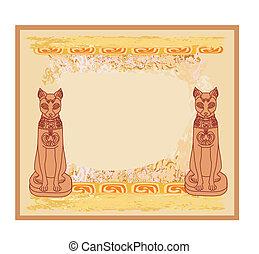 Stylized Egyptian cats