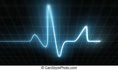 Stylized EKG Fast, Blue