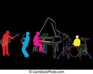 stylized, faixa, jazz
