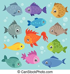 Stylized fishes topic image 3
