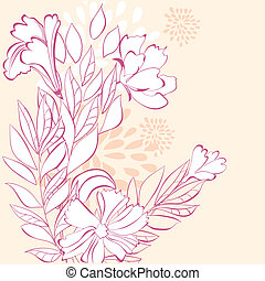 Stylized floral background