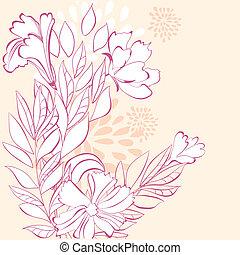 Stylized floral background