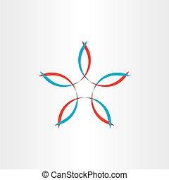stylized flower symbol design