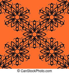 Stylized flower tile. Seamless Ornamental stylized flower pattern for your design wallpapers