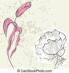 Stylized flowers