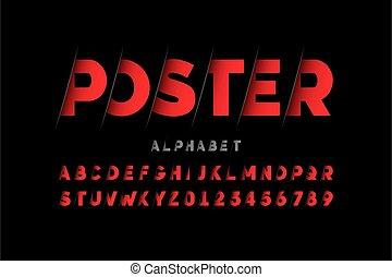 Stylized font design