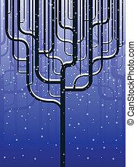 Stylized forest in winter