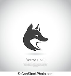 Stylized fox head icon vector - Stylized fox head. Vector ...