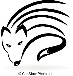 Stylized fox logo